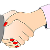 Hospitality sales managers shake hands well